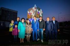 В Якутске состоялось открытие инсталляции «Девочка с олененком»