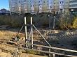 В Якутске идет строительство нового пешеходного перехода между 202 и 203 микрорайонами