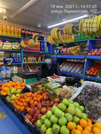 Оперштаб г. Якутска проверил киоски по продаже овощей и фруктов