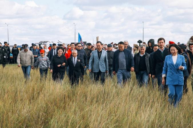 Накануне Дня города в Якутске состоялась закладка Парка Победы