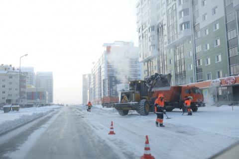 "План работ АО ""Якутдорстрой"" на 24 января (дневная смена)"