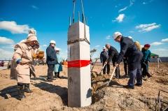Год добра: в селе Сырдах установлена первая свая детского сада