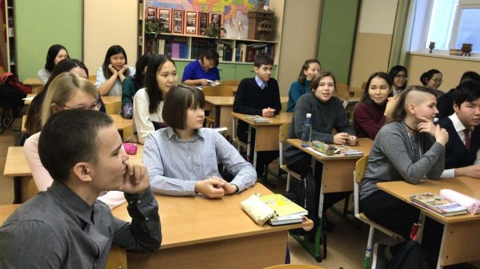 Год добра: в СОШ №5 прошли открытые уроки, посвященные Дню Конституции РФ