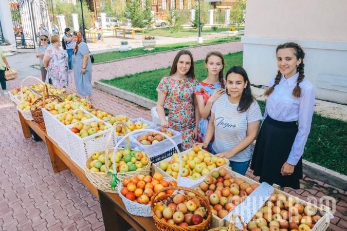 В Яблочный спас добровольцы раздали 386 килограмм яблок