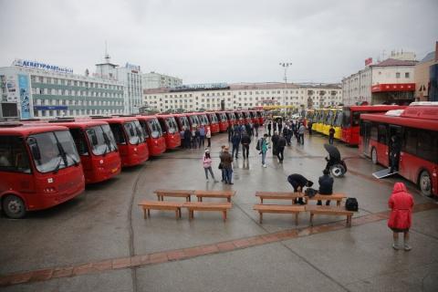Городской автопарк Якутска пополнился новыми автобусами