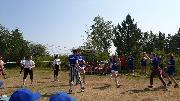 В детском лагере Спутник дети любит проводить время за игрой в волейбол