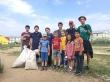 Добровольцы столицы провели субботник на детских площадках