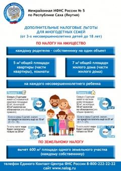 Дополнительные налоговые льготы для многодетных семей