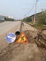 По завершении земляных работ АО «Водоканал» восстановит разрушенные тротуары и асфальтовое покрытие на ул. Чайковского