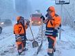 Уборка снега приостанавливается при низкой температуре воздуха