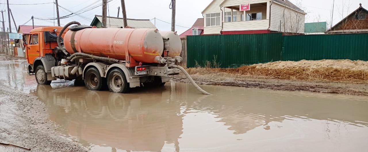 Работа по откачке талых вод ведется в усиленном режиме