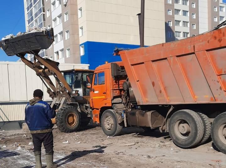 Санитарная очистка территории продолжается опережающими темпами