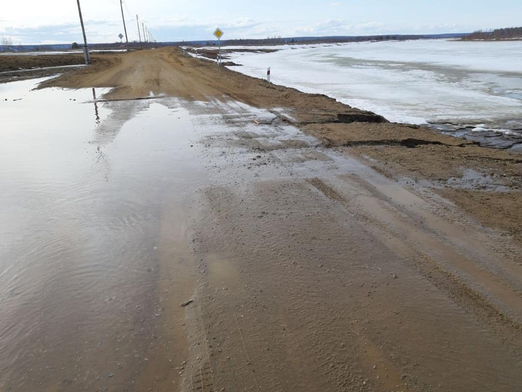 Комиссия рассмотрит вопрос размытия дороги в микрорайоне Северный