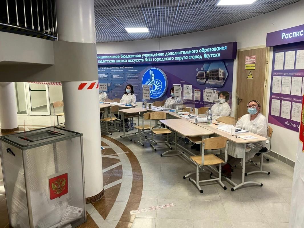 Третий день голосования на выборах в Государственную Думу Российской Федерации проходит в Якутске