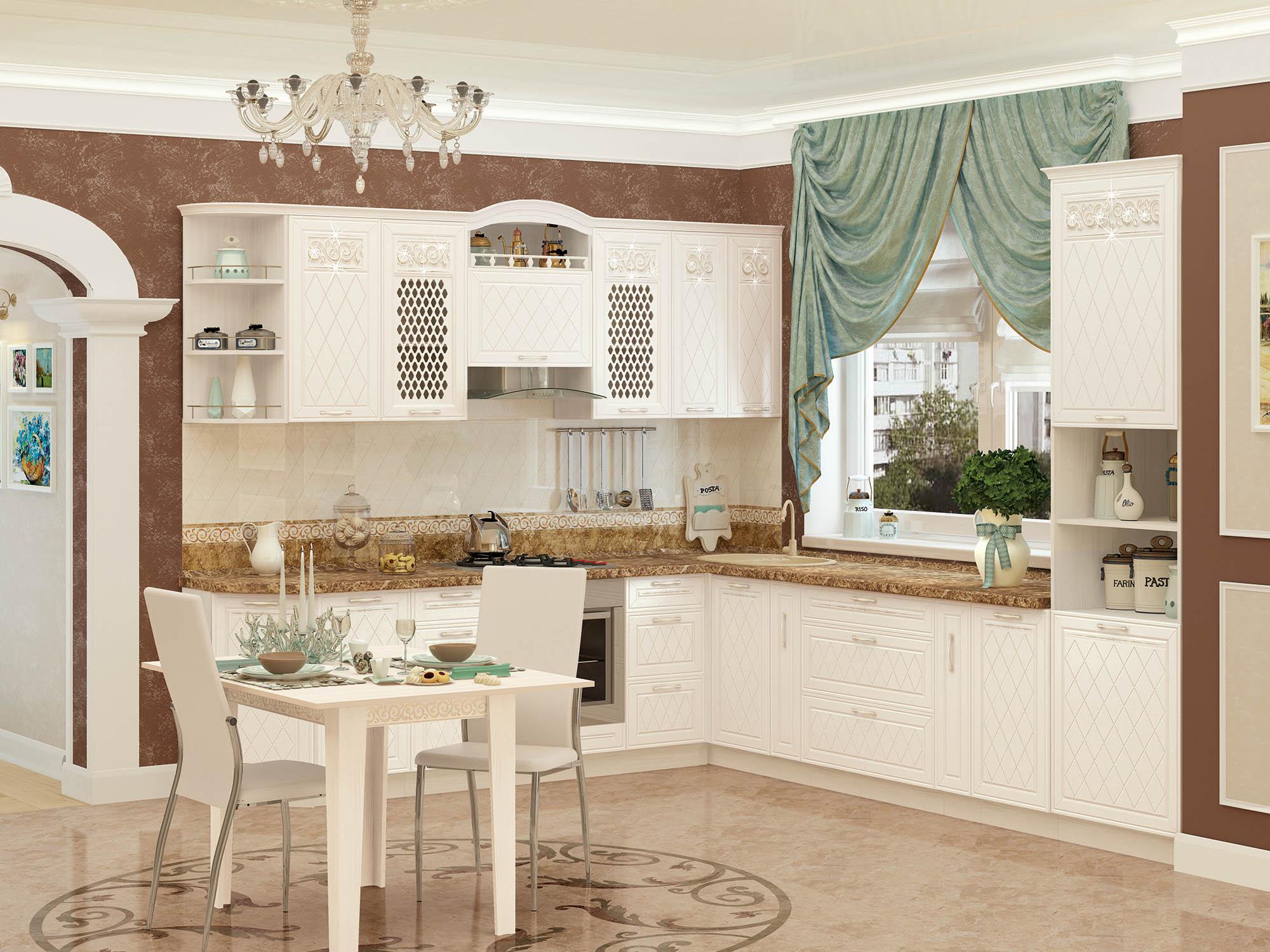 Кухня угловая Тиффани 270*320
