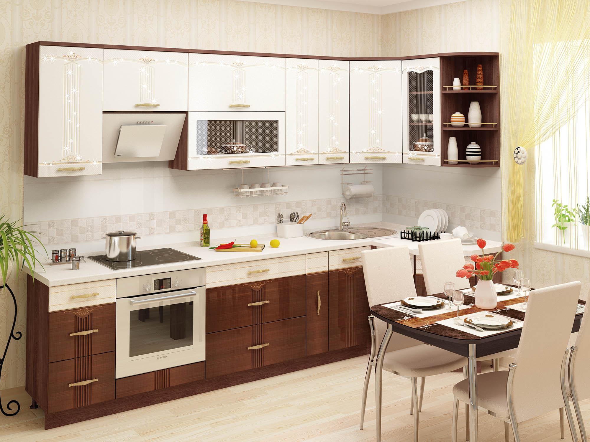 Кухня угловая Каролина 300*130