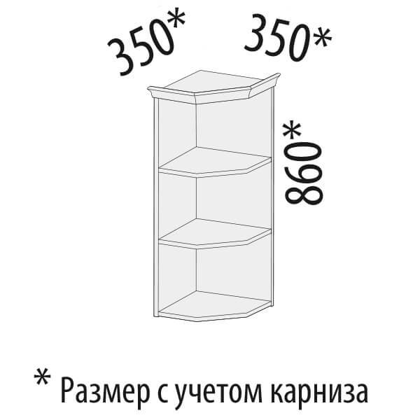 шкаф торцевой универсальный Афина 30