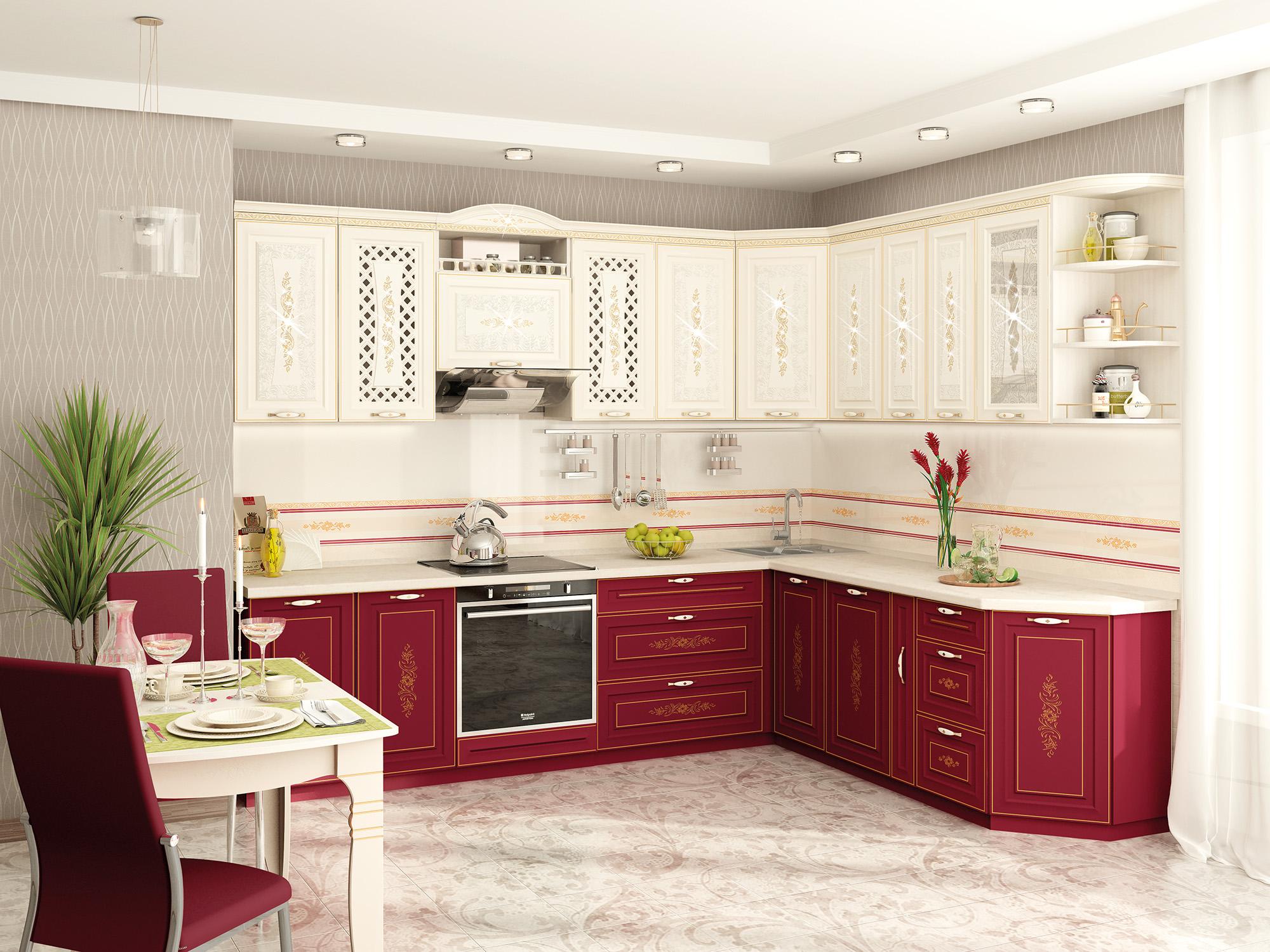 самые красивые кухни фото угловые