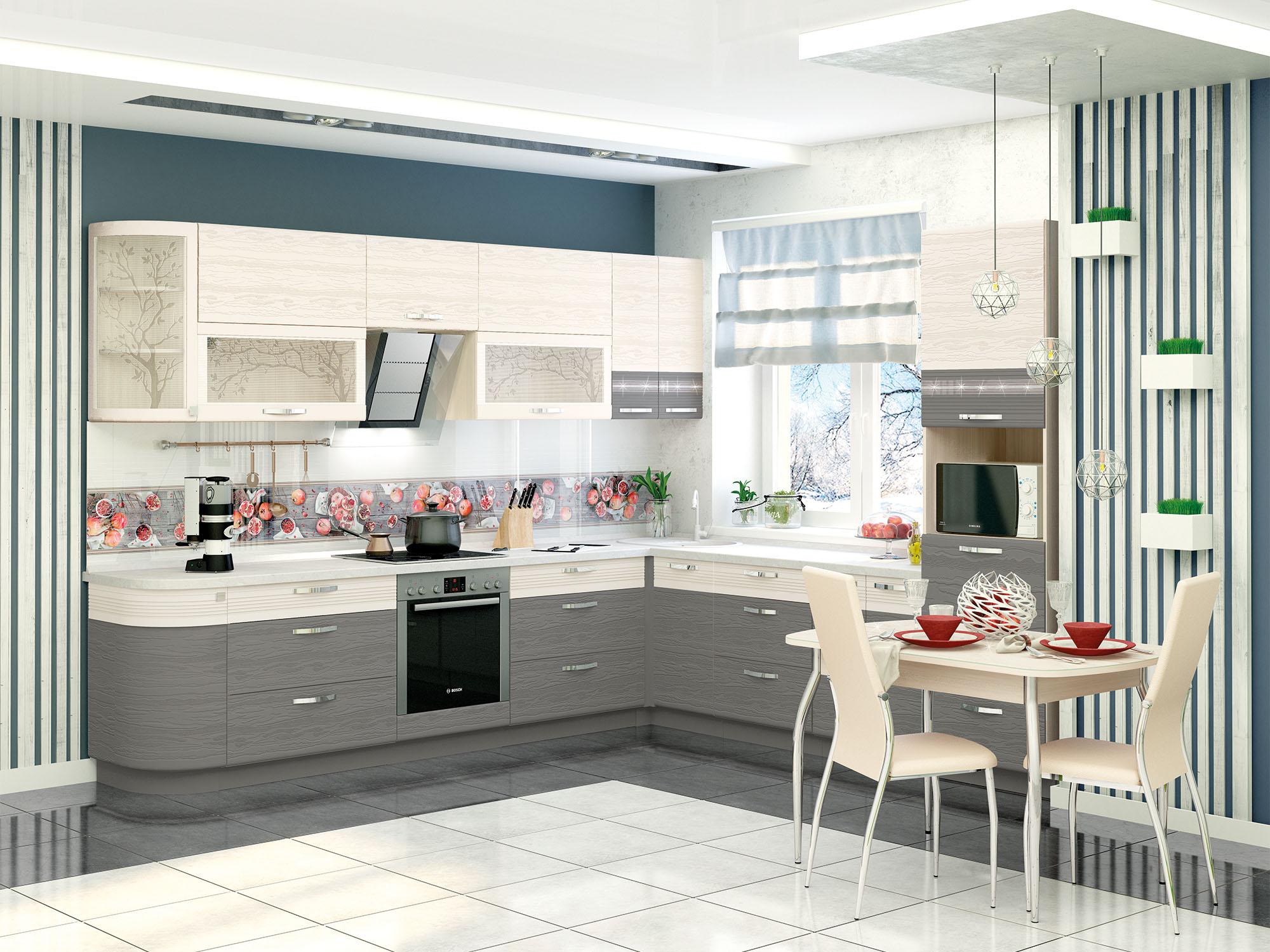Кухня угловая Графит 312*280