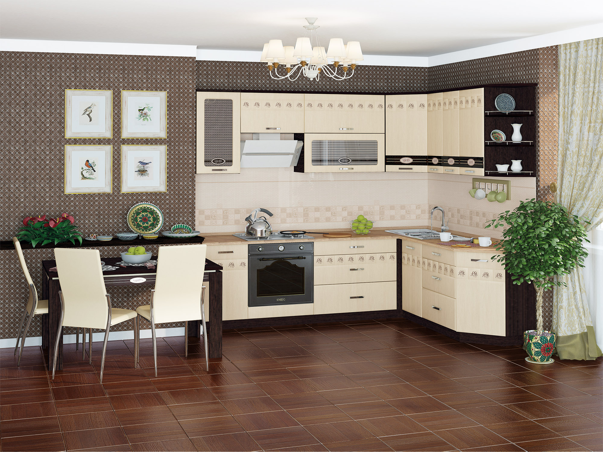 Кухня угловая Аврора 240*190